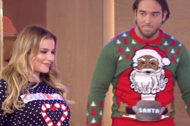 James Lock FLASHES This Morning Views While The TOWIE Cast Model Christmas Jumpers