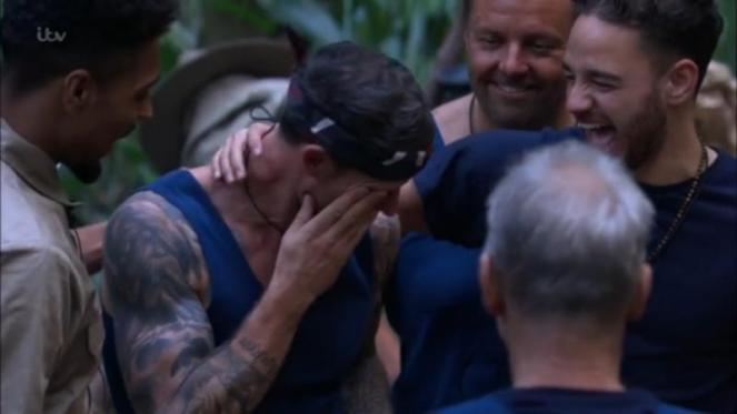 Wayne Bridge Tears Up After As I'm A Celebrity Camp Celebrate Son's Birthday