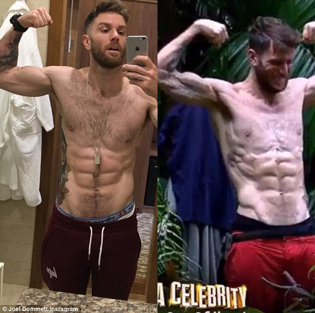 I'm A Celeb's Joel Dommett Shows Off His Six Pack Online