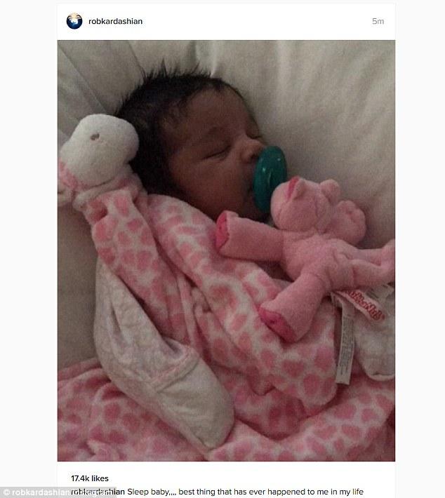 Rob Kardashian Proudly Shows Off His Daughter Dream Kardashian On Instagram Again