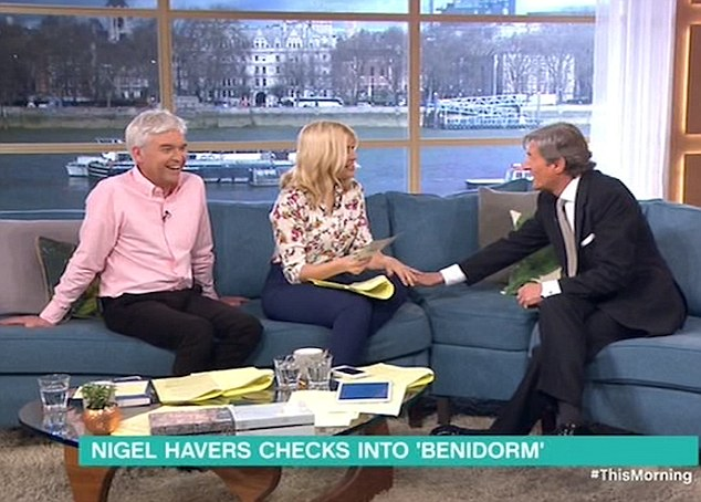 Nigel Havers Gets Very Flirty With Holly Willoughby On This Morning During Benidorm Interview