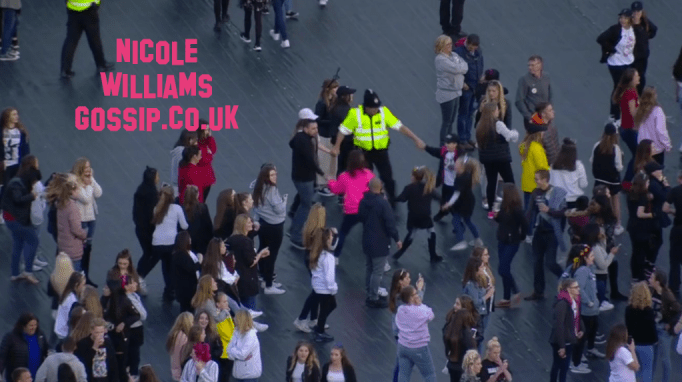 Children And Parents Spotted Dancing With Police Officer At Ariana Grande One Love Manchester Concert!