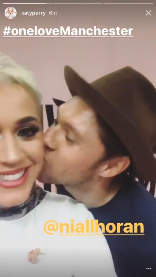 Niall Horan kisses Katy perry