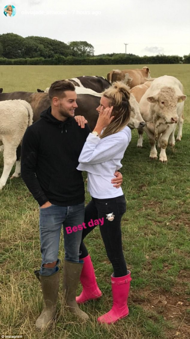 Love Island's Olivia Attwood Visits Chris Hughes Farm