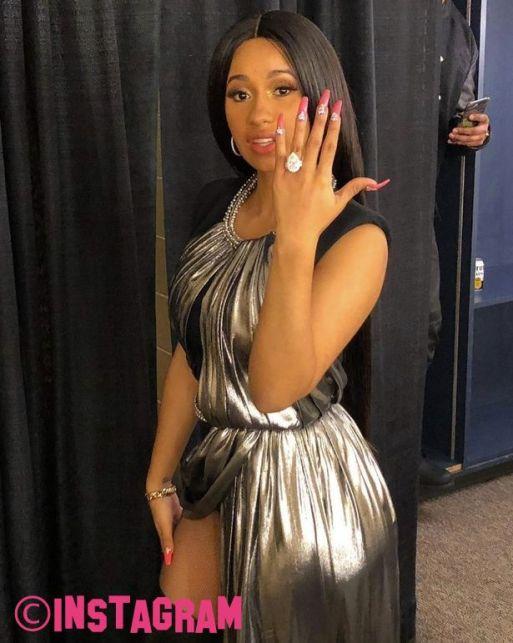 Cardi B Flashes Her 8 CARAT Engagement Ring