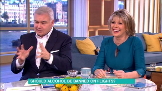 Eamonn Holmes Announces Wife Ruth Langsford Has To 'Sedate Herself' With Alcohol Before She Flies
