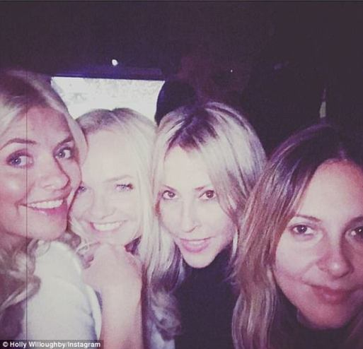 Holly Willoughby Enjoys Night Out With Emma Bunton and Natalie Appleton