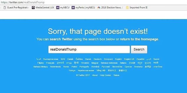 Donald Trumps Twitter Is Suspended!