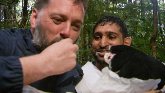 I'm A Celebrity's Amir Khan And Iain Lee Eat All Dingo Dollar Treats And LIE To Camp Mates
