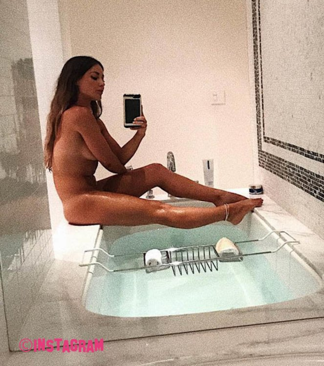Louise Thompson Poses Naked In Her Bathroom For Instagram Snap