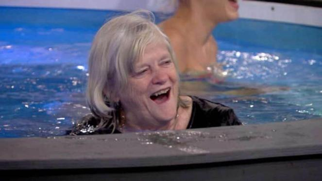 Celebrity Big Brother Housemates Finally Get Ann Widdecombe In The Pool With Them