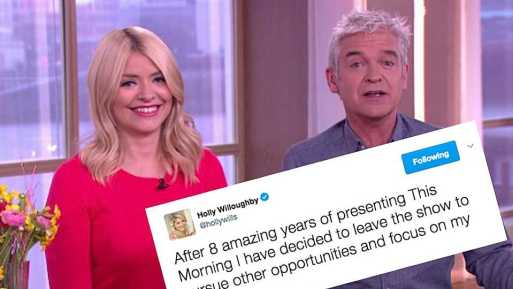 Holly Willoughby Involved In Twitter Hoax After It Claims She's Leaving This Morning To Sell Diet Pills