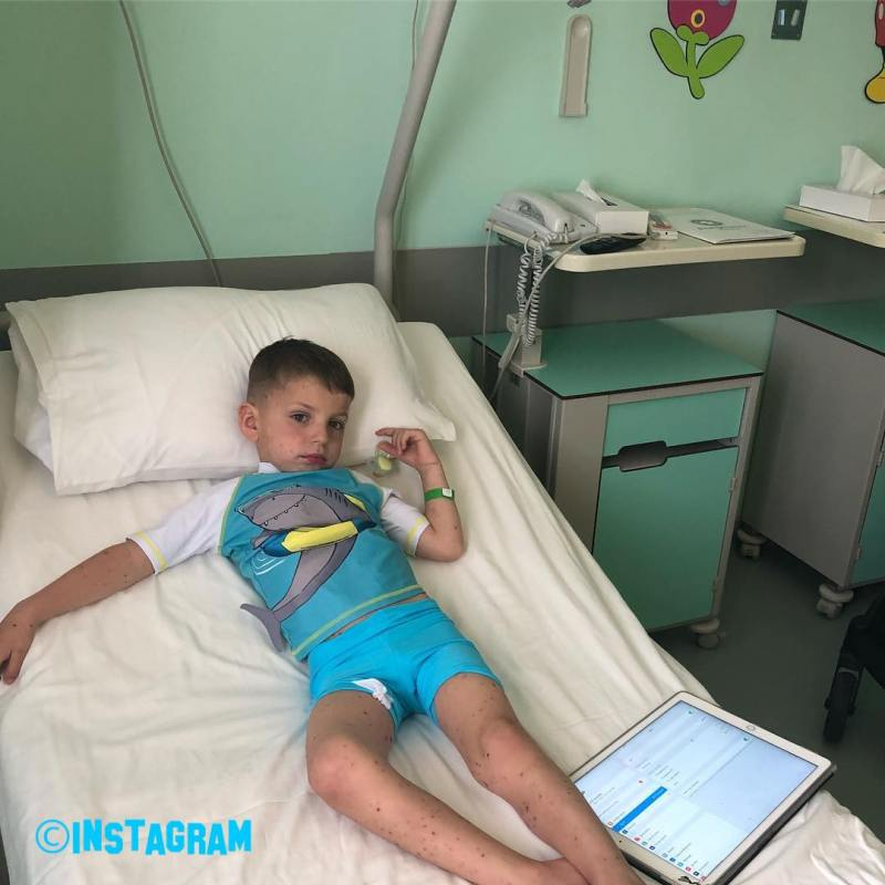 Tanya Bardsley Reveals Her Son Renz Has Been Rushed To Hospital While On Holiday After Getting Chicken Pox