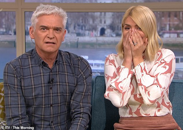 Holly Willoughby Introduces Jimmy Carr as Phillip Schofield During Live This Morning Link