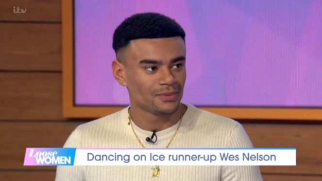 Wes Nelson Spends Dancing On ice Wrap Party Getting Close To Dancer Bayley Darling