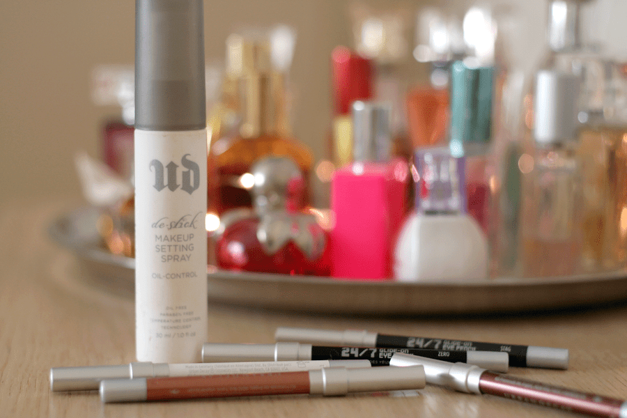 Urban Decay Deslick Setting Spray & 247 Glide On Pencils