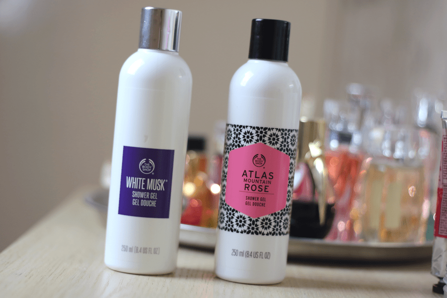 White Musk and Atlas Mountain Rose Shower Gel