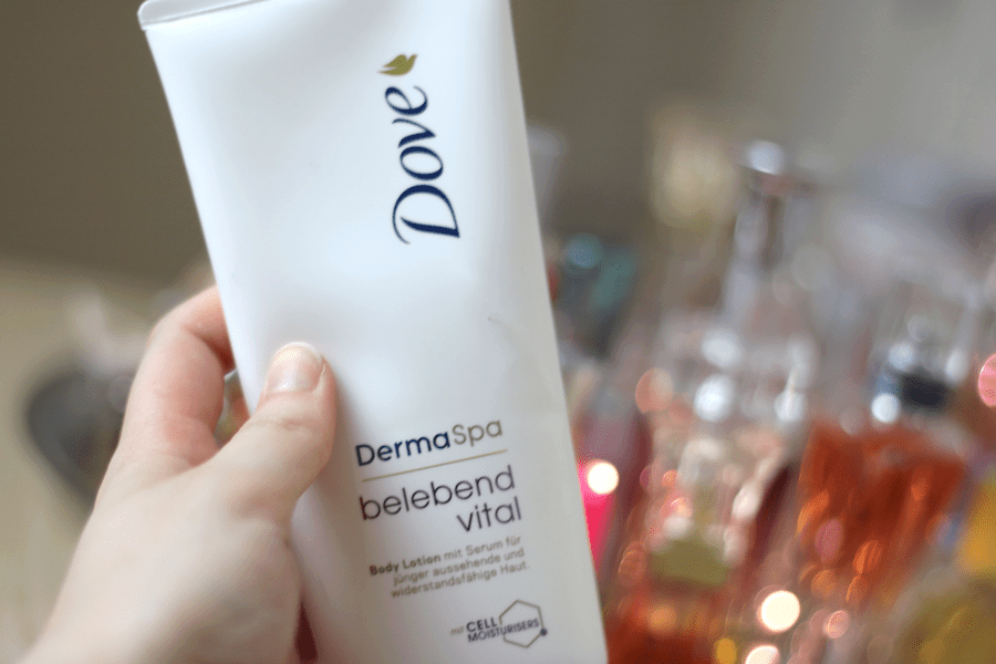 Dove Derma Spa Youthful Vitality Body Lotion Look
