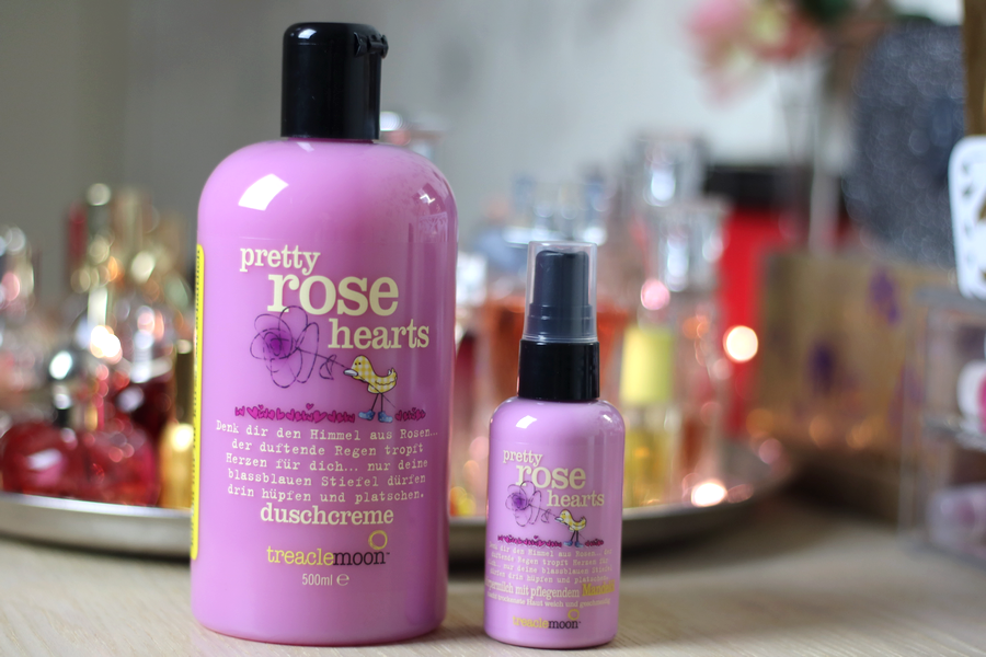 Treacle Moon Pretty Rose Hearts Shower Gel and Body Lotion