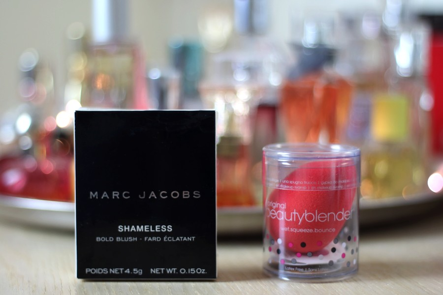 Marc Jacobs Shameless Blush and Beautyblender