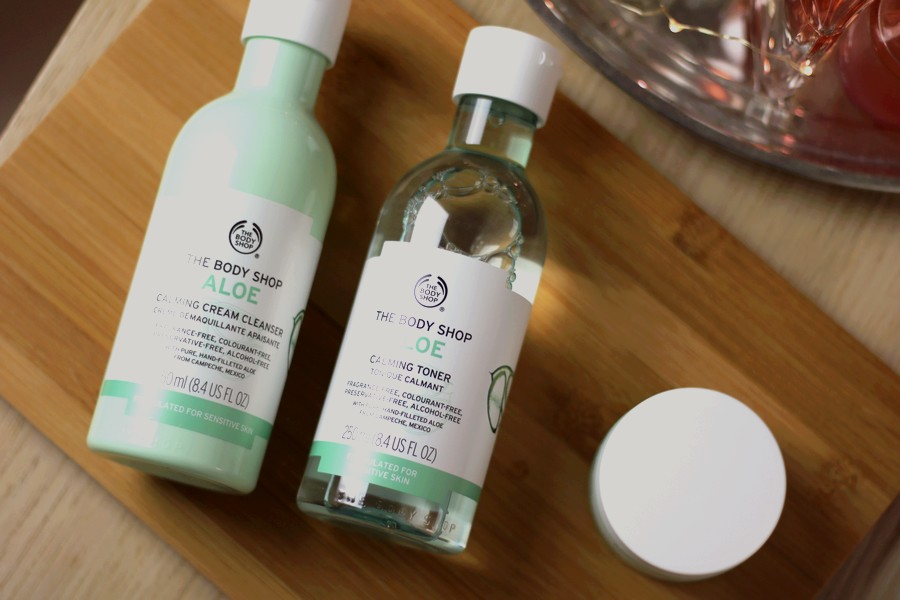 The Body Shop Aloe Calming Skincare Products