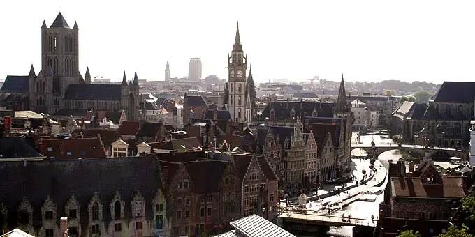 Blick über Gent - Flandern Rundfahrt