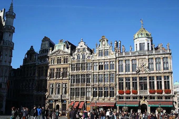 Gebäude auf dem Grote Markt in Brüssel. - Flandern Rundfahrt