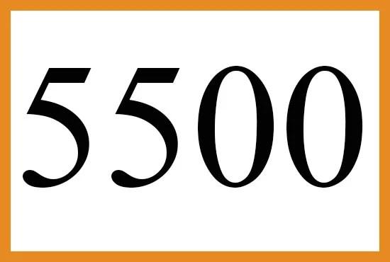 5500のエンジェルナンバーの意味