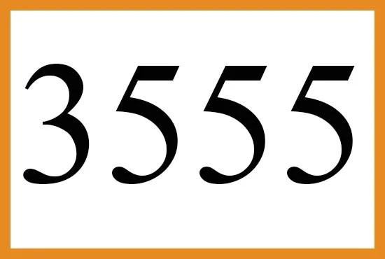 3555のエンジェルナンバーの意味について