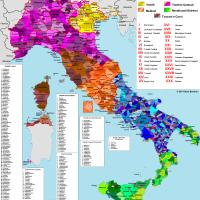 La mappa dei dialetti italiani