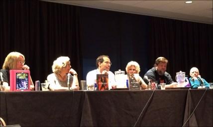 Urban Fantasy Panel (Left to Right): Gail Z. Martin, Kat Richardson, David B. Coe (D. B. Jackson), Faith Hunter, John Hartness, Chelsea Quinn Yarbro