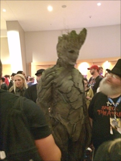 It was so hard to get a decent pic of this Groot because he was the hit of the Con. Everyone wanted a photo of him.