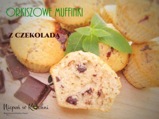 Orkiszowe muffinki z czekoladą