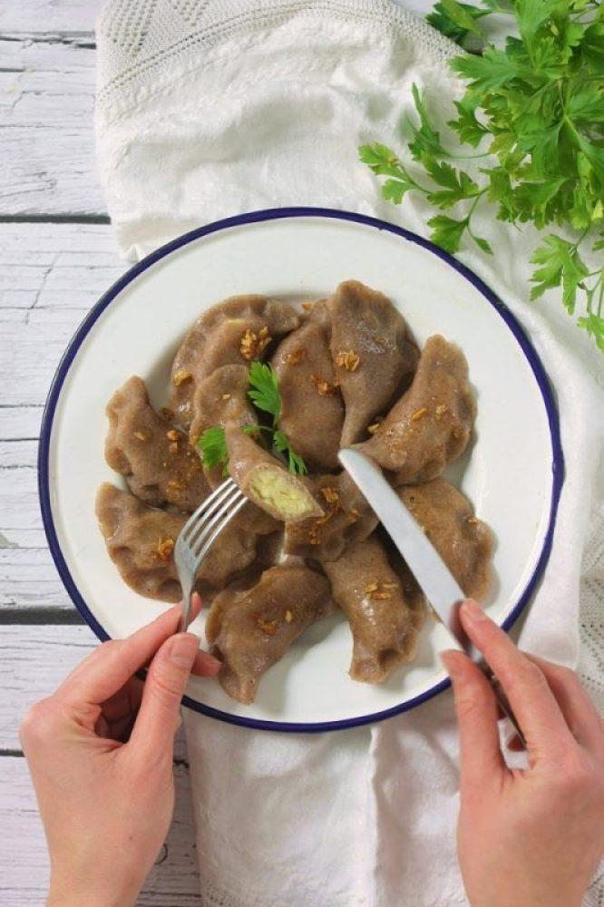 Ruskie pierogi bezglutenowe i wegańskie