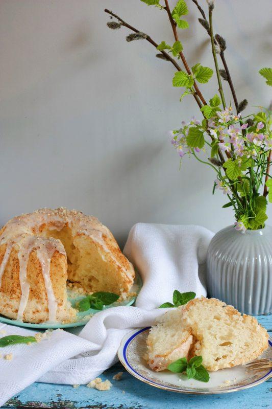 Wegańska Babka bezglutenowa bez jajek i masła z aquafabą