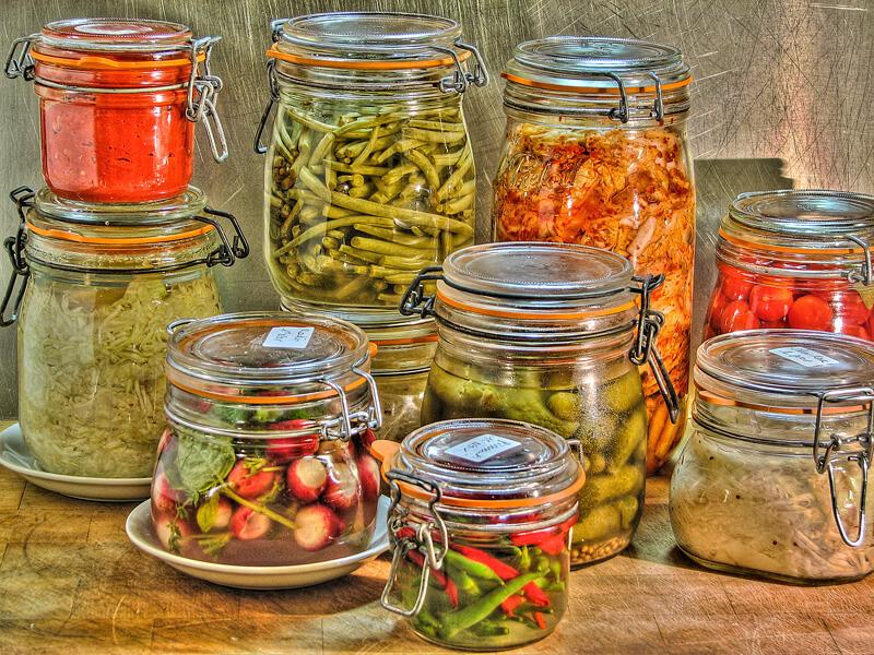 bocaux de légumes