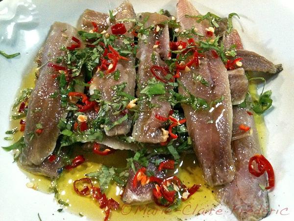 Sardines marinées au basilic et au piment - Ni Cru Ni Cuit on