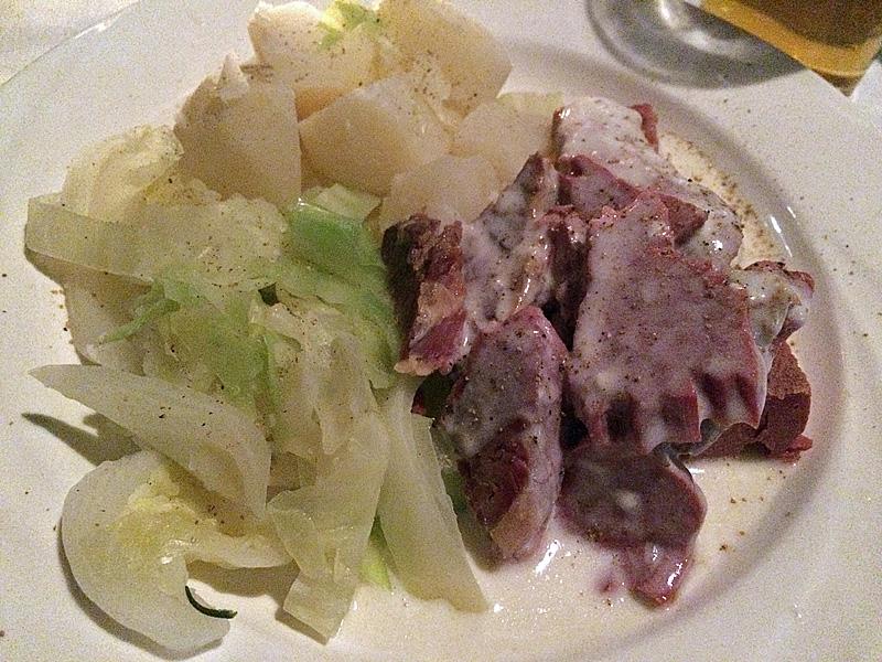 corned beef et chou de New York