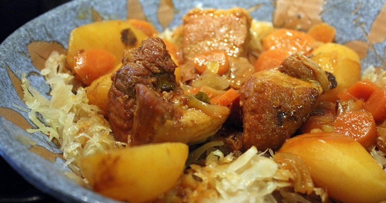 Gulasch au porc et à la choucroute