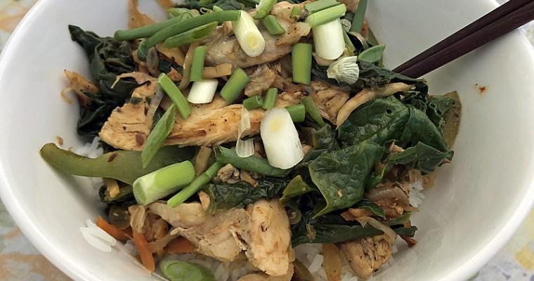 Poêlée de légumes suris et volaille