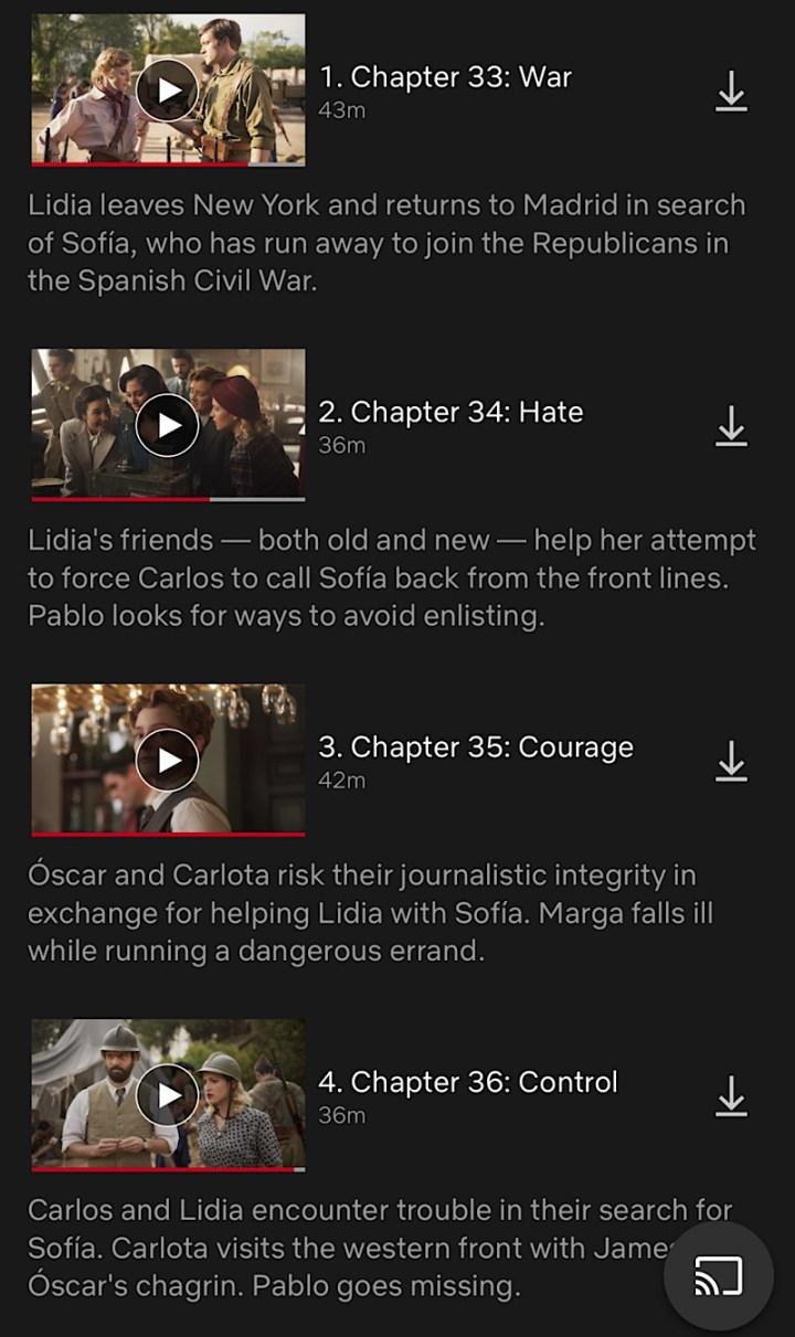 Las Chicas Del Cable Season 5 Part 1, Cable Girls, Netflix, final season, queue