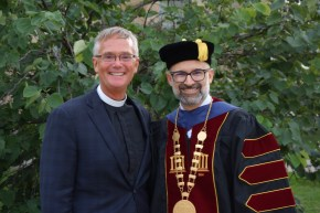 NID President Allan Buss and Concordia University Chicago President Russel P. Dawn