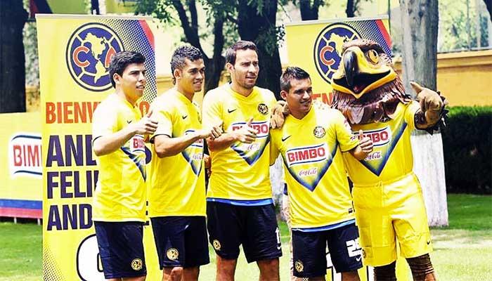 Mendoza, Andrade, Rey y Gutiérrez del Club América
