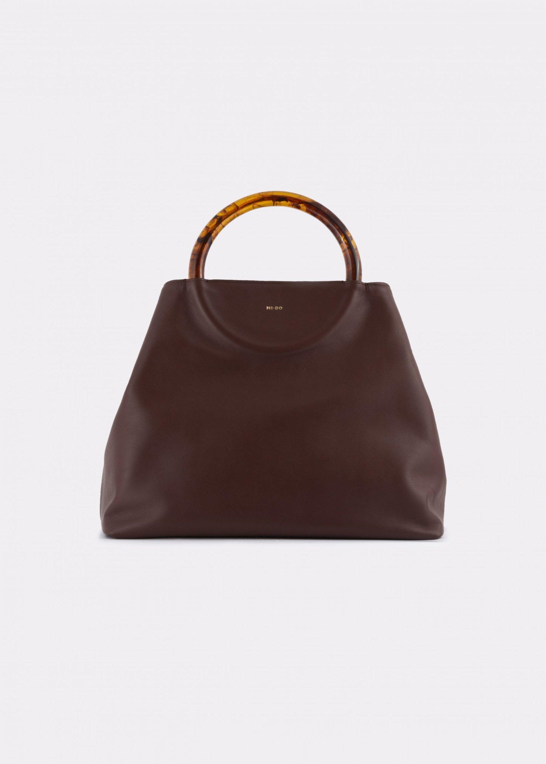 NIDO-Bolla-Maxi-Bag-brown-Front_view