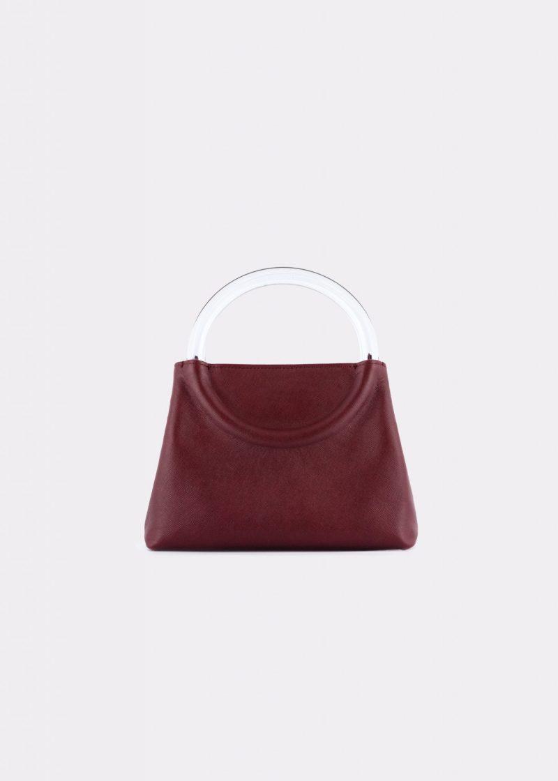 NIDO-Bolla_Mini-bag-bordeaux_front view