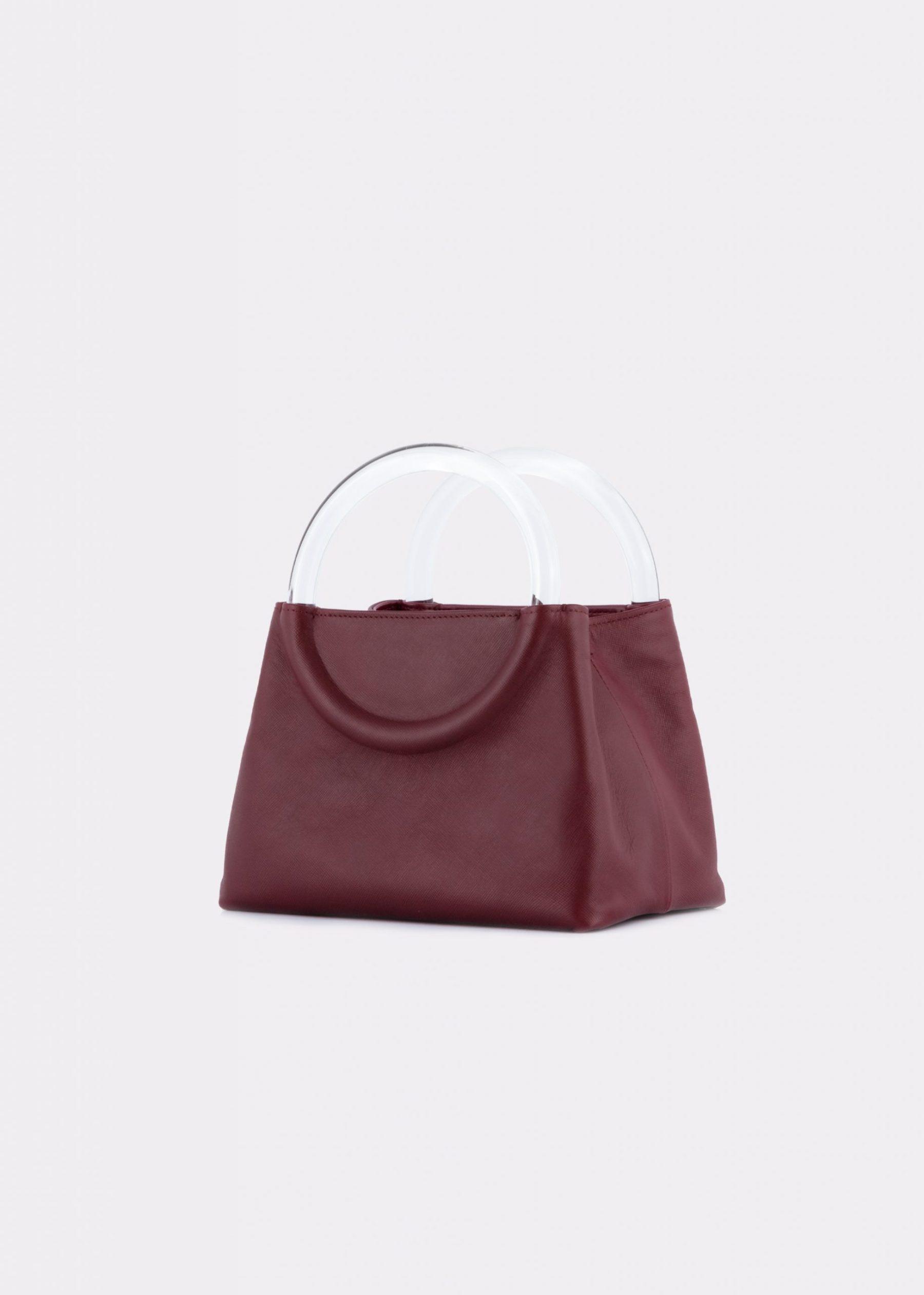 NIDO-Bolla_Mini-bag-bordeaux_side view