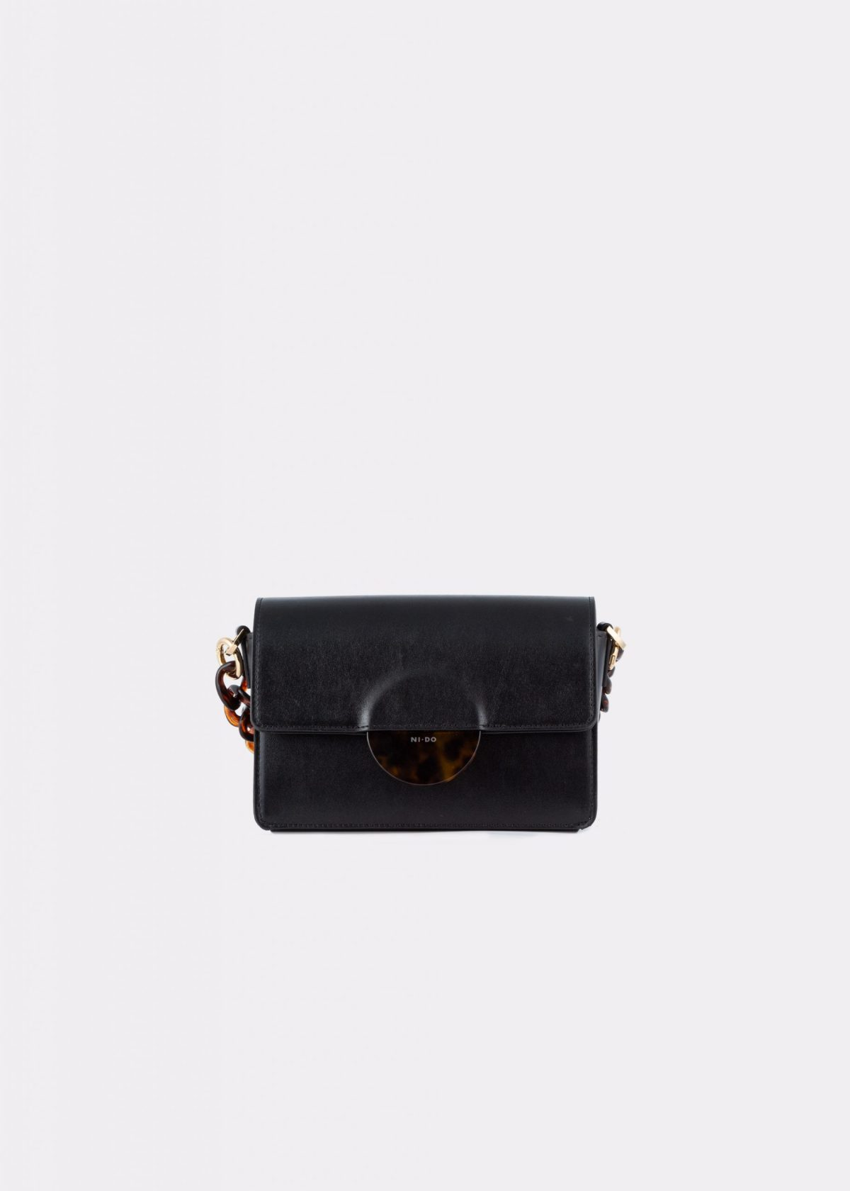 NIDO Cuore Mini bag Black front view