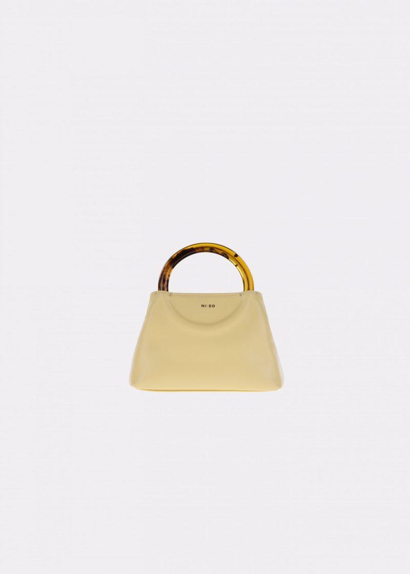 NIDO-Bolla_Micro-bag-lemontart-Amber_front view