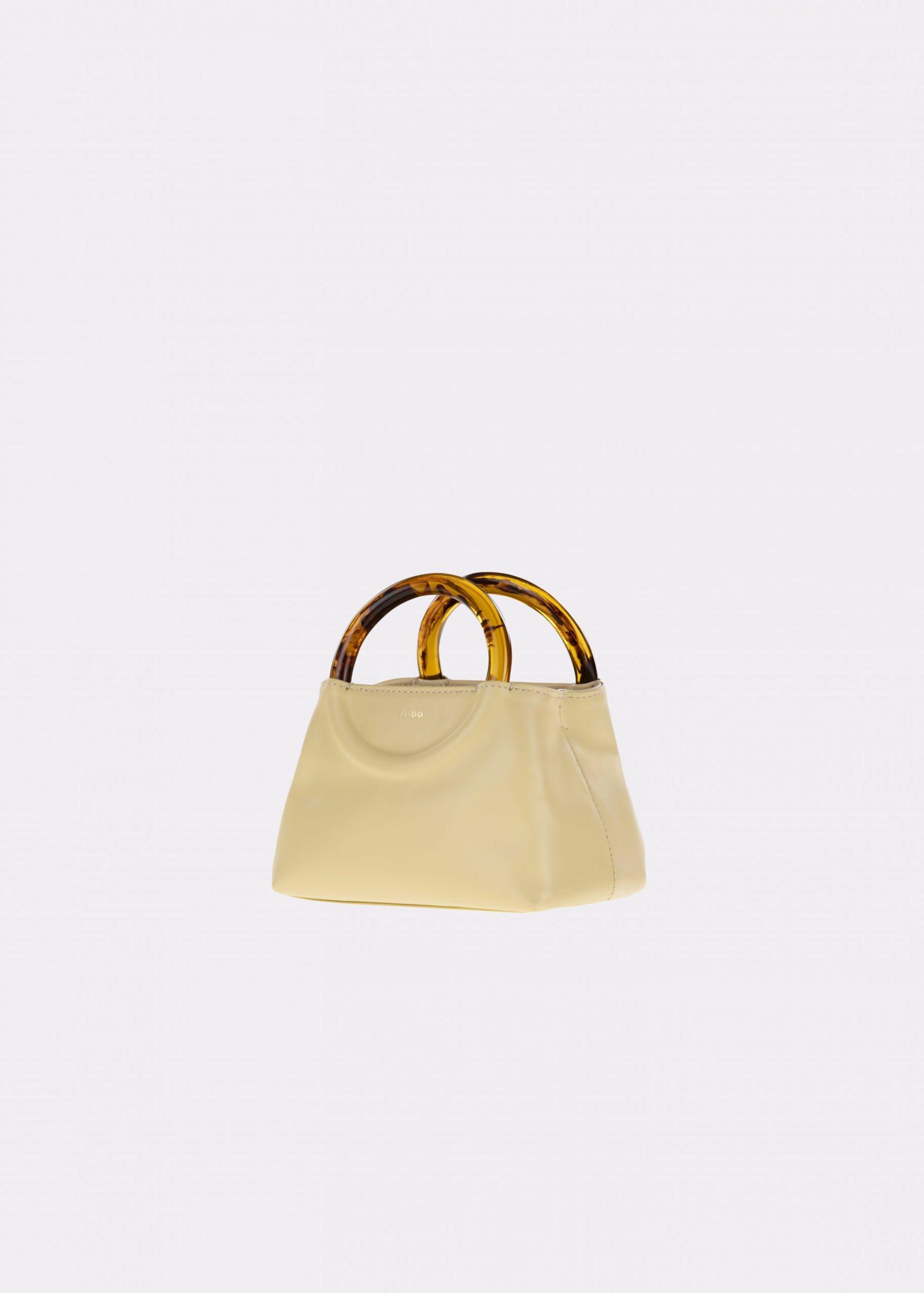 NIDO-Bolla_Micro-bag-lemontart-Amber_side view