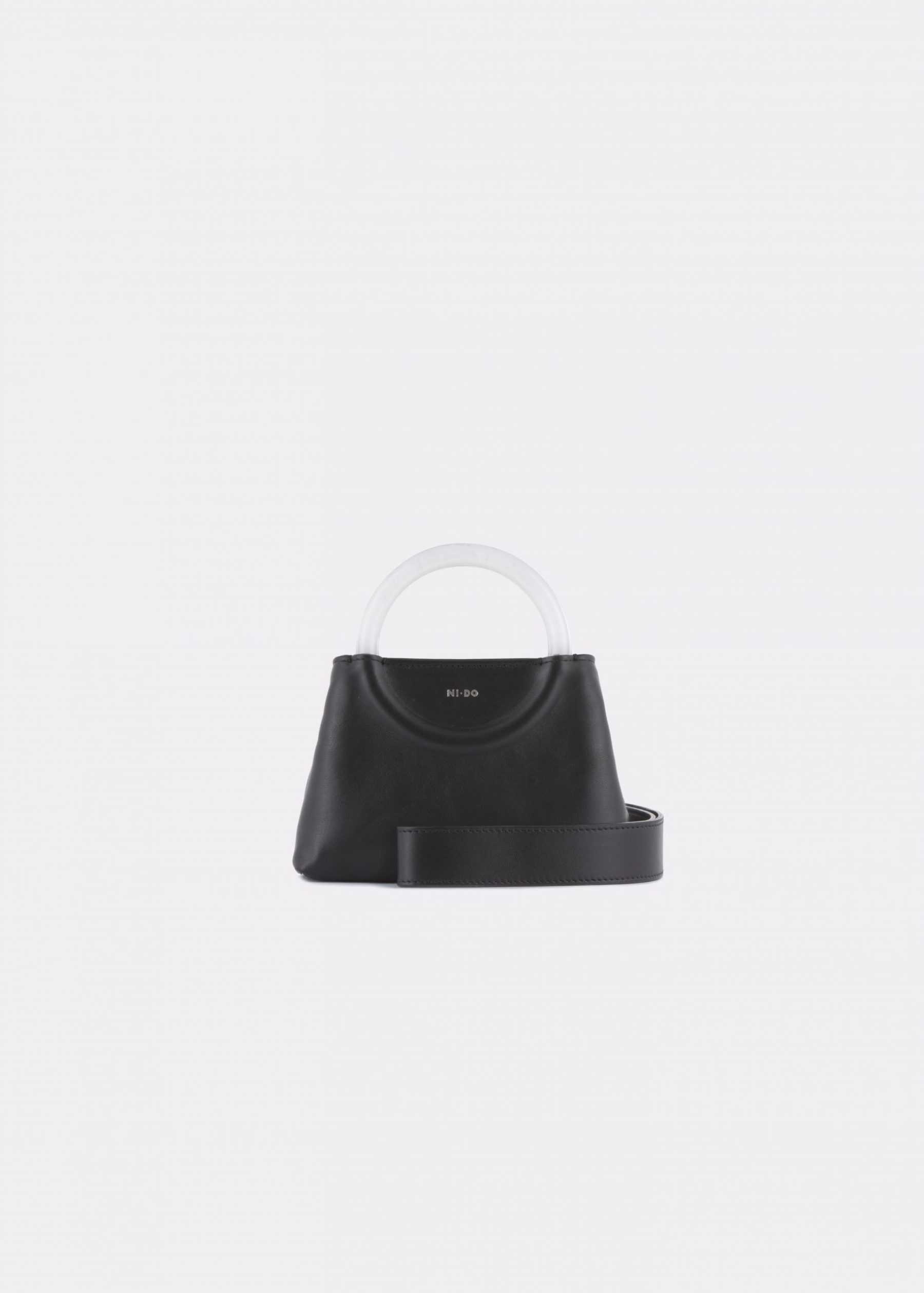 NIDO-Bolla_Mini-bag-Black-Pearl_shoulderstrap view